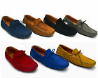Mens Designer Shoes Boat Suede Leather Loafers Driving Moccasin Boots Slip On