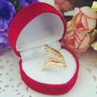 Feather Enwind Leaf Gold Plated Cocktail Party Hand Ring Statement WITH FREE BOX