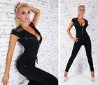 Sexy New Black Women Playsuit Jumpsuit Overall Skinny Slim M 602
