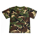 Kids Army Camouflage T-Shirt Ages 3-13 Years 100% Cotton Camo Clothing
