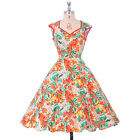 GK Retro Vintage Style 1950s Pinup Housewife Swing Evening Prom Dress