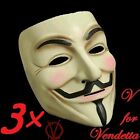 V for Vendetta Mask Guy Fawkes Anonymous Halloween Masks Cosplay dress costume
