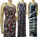 Summer Printed Maxi Dress UK Size 12 - 26 in Various Length (Visco)