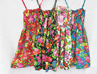 Girls Strappy Floral Sundress Cotton Summer Kids Dresses Casual Holiday  2-13 yr