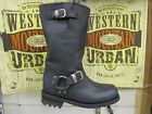 LOBLAN 501 Black Waxy Leather Mens Biker Bike Boots Classic Round Toe HAND MADE