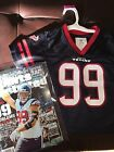 NFL 2017 HOUSTON TEXANS JJ WATT #99 Licensed Jersey 3T W/ COLLECTORS SI MAGAZINE