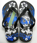 Mens Kids Womens Black Camper Van Rubber Flip flops Sandals Shoes Surf Style