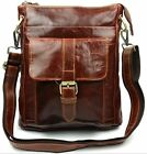 New Men's Vintage Genuine Leather Shoulder Bag Casual Wallet Purse Strap 3colors