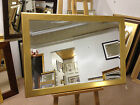 MODERN 60mm PLAIN GOLD WALL AND OVERMANTLE MIRRORS - VARIOUS SIZES AVAILBLE