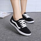 Women Fashion Casual Round Toe Help low Lace up Sneakers Canvas Board Shoes