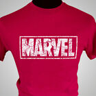 Marvel Retro Logo T Shirt Captain America Hulk Iron Man Avengers Vintage