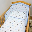3 Pcs Piece Nursery Baby Bedding   Duvet Set Padded Safety Cot Bed Bumper