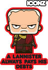 ICONZ CARTOON T SHIRT TYWIN LANNISTER GAMES OF THRONES LORD PARAMOUNT WESTEROS