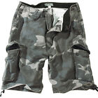 SURPLUS VINTAGE MENS COMBAT CARGO SHORTS NIGHT CAMO 32w