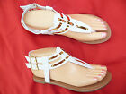 WHITE GLADIATOR GIRLS SANDALS GERRY SIZES : 9-4