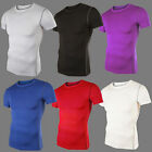 Men Fashion Sports Slim Fit Cotton Lycra Casual Round-Neck Short Sleeve T-Shirt