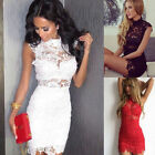 Women Short Mini Lace Dress Prom Evening Party Cocktail Wedding Bridesmaid Dress