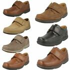 Mens Clarks Wide Fitting Velcro Shoes Swift Turn