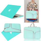 Turquoise Rubberized Case Cover + Sleeve Bag For Macbook Pro 13 Air 11 Retina 15