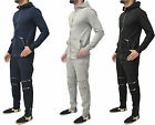 Mens Genetic Apparel Designer Full Zip Tracksuit Top & Bottoms Jogging Pants New