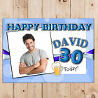Personalised 18th 21st 30th 40th 50th Happy Birthday PHOTO Poster Banner N48