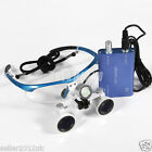 Dental 3.5X420mm Surgical Binocular Glasses Loupes + Portable LED Head Light