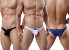 Stylish Men's Smooth Low Rise Mini Underwear Briefs Bulge Pouch T-back Thongs