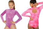 Roch Valley JANE Long Sleeved Velour Leotard. Neon Pink OR Lilac AMETHYST. 2 & 3