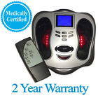 Circulation and EMS TENS Machine Booster Foot Leg Blood Remote Massager Redstone