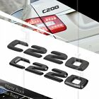 BLACK REAR BOOT TRUNK LETTER EMBLEM BADGE FOR W202 W203 W204 C CLASS C220 AMG