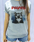 Unisex PAWS Movie Summer Hipster Womens Grey Gray T Shirt Tshirt Short Sleeve