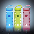 New Portable Glass Water Bottle with Silicone Sleeve