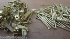 MEDIUM NUMBER 2 ELECTRO BRASSED PICTURE HANGING HOOKS WITH HARDENED PINS NAILS