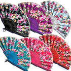 Spanish Lace Flower Floral Fabric Folding Hand Held Fan Party Wedding Prom