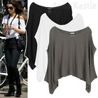 AnnaKastle New Womens Silky Cape Crop Poncho Summer Top Tee Coverup size S - L