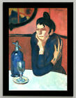 Pablo Picasso The absinthe drinker canvas print, framed, giclee 6.8X8.8&10X13,6