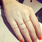 Fashion 5Pcs Stack Crystal Cute Above Knuckle Band Midi Ring Set Gold/Silve Hot