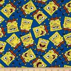 SpongeBob,  Super Mario,  Family Guy,  Adventure Time,  & Pillow Pets Cotton Fabric!