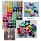 2 x Single Bow Hair hair clips - You choose both colours! 3cm (Alligator clips)
