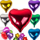 5pcs 18 inches of Mixed Heart shape aluminum foil balloons for wedding/party