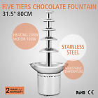 """COMMERCIAL 31.5"""" 80CM FIVE TIERS COMMERCIAL CHOCOLATE FOUNTAIN PARTY FONDUE"""