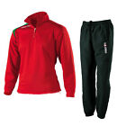 Macron Roc Full Tracksuit Training Top Bottoms Mens M L XL Red Black Navy