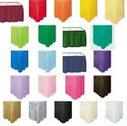 """Self Adhesive Pleated Plastic Table Skirts 29"""" x 13' Disposable Banquet Skirting"""