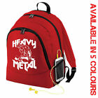 HEAVY METAL MUSCLE GYM BACKPACK BAG - TRAIN HARD - MMA RUCKSACK FITNESS WEIGHTS