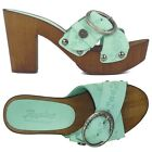 Replay DIVA Clogs Sandalette Pumps 37,38,39 grün Plateau Sandale Made in ITALY