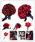 Build Your Wedding Flower Package-Apple Red Black theme-artificial Flowers