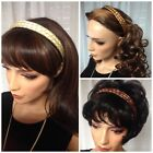 DOUDLE BRAIDED HEADBAND  with gripper teeth BLACK BROWN BLONDE RED COLOR CHOICE