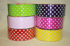 50mm x 50m Polka Dot Florist poly Ribbon spotty bow ribbon