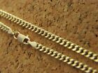 Real 14kt Yellow Gold 2mm Curb Link Cuban Chain Necklace 14k Real Gold