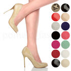 WOMENS LADIES HIGH HEEL PEEP TOE COURT SHOES PARTY EVENING PROM SANDALS PUMPS